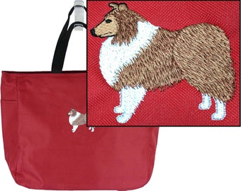 Shetland Sheepdog Puppy Dog Monogram Bag Essential Tote Custom Embroidered Show Breed Collie