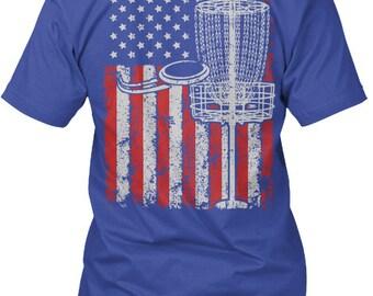 America And Disc Golf  Ltd Edition Hanes Tagless Tee Tshirt