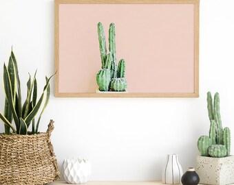Pink Cactus Wall Art - Cactus Print - Cactus Art Ideas - Teen Room Decor - Teenage Girl Room - Cactus Photography - Cactus Wall Art Print