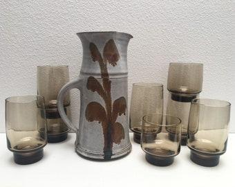 Vintage Libbey Smoked Glass set / Smoky glasses / Libbey Smoky Glass / Libbey Tumblers
