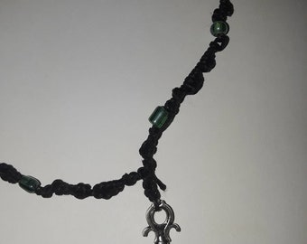Necklace with honeycomb pendant...22inches