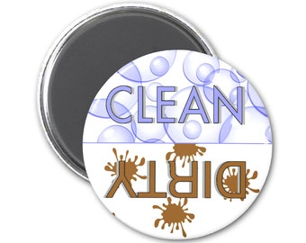 Bubble Splat Clean Dirty Dishwasher Magnet