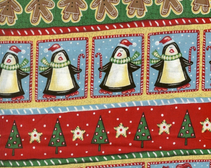 Patchwork Christmas fabric, 100% cotton, Sold by( multiple lengths)  # 103