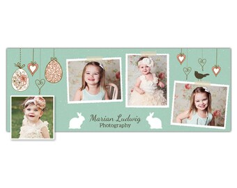 Easter Facebook Timeline Template for Photographers - Lovely Easter Sunday - Photoshop Template - INSTANT DOWNLOAD
