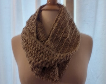 half price infinity scarf in shades of beige