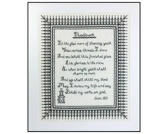 Large Needlework Poem