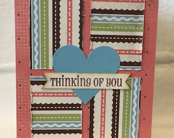 Patchwork Thinking of You Card