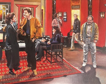 "Seinfeld ""Living in a Society!"" Oil Painting"