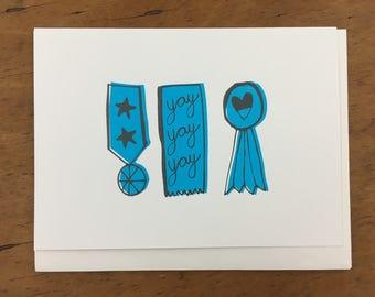 Yay Yay Yay Greeting Card
