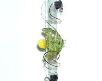 Tropical Fish Glass Suction Window Vase Bud Vase Rooting Vase Seaside Decor Tropical Beach Lover Sea Life Decor