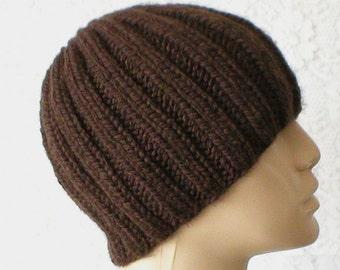 Brown beanie hat, skull cap, toque, brown hat, beanie hat, winter hat, mens womens knit hat, chemo cap, brown knit hat ski skateboard hiking