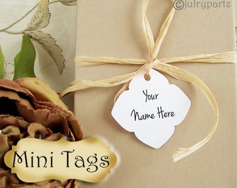 30•MINI TAGS #5 • 1.5 X 1.5 inch•Necklace Tags•Bracelet Tags•Price Tags•Clothing Tags•Favor Tags•Package Tags