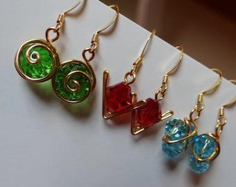 The L.O.Z.® Spiritual Stone Earrings (Set of 3)