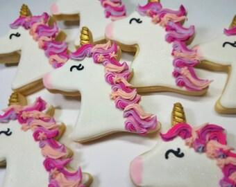 Unicorn cookies, unicorn horn, unicorn birthday,unicorn party favor , birthday party favor,girl birthday, unicorn