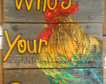 """16"""" X 16"""" #625 Constructed Rustic Rooster on wood Original Art Wall Decor"""