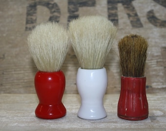 Vintage Shaving Brush - Mens Grooming - Set of Three