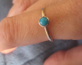 Turquoise Sterling Stack Ring