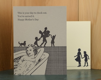 Check Out - letterpress Mother's Day card