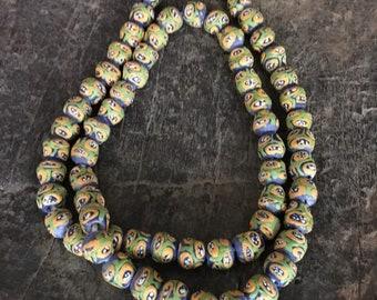 Ghana Glass Beads , African Glass Trade Beads