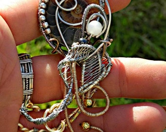 Chthulu ammonite wire wrapping