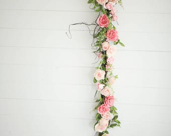 Limited Edition Candy Blush Rose and Vine Garland