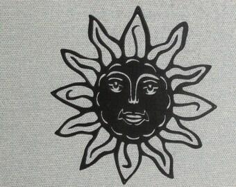 Sun Face Wall Decor Laser Cut Wood Art