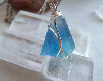 Reserved for Nancy - Natural Blue Fluorite Beautiful New Mexico Gemstone Pendant
