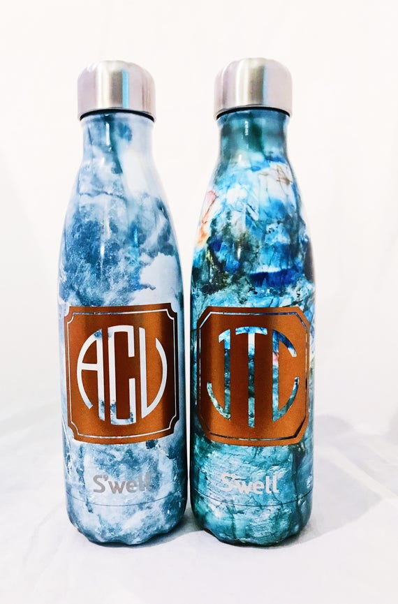 S'well Water Bottle with Personalized Custom Monogram