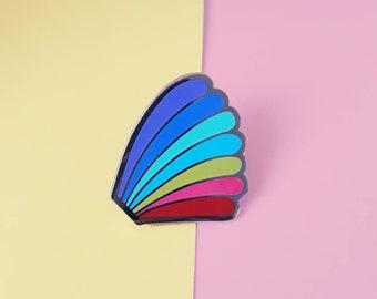 H's Rainbow Enamel Pin