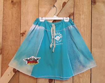 Boo! . .  .  Wrecked at the Reef with Boobar ~ Rocky Point Beach Bars hand-painted and upcycled skirt from t-shirts.