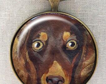 Dachshund Keychain ~ Gifts for Her ~ Longhair Chocolate Dachshund  ~ Teckel Keychain ~ Dog Dad Gift ~ Doxie Owner Gift ~ May Birthday
