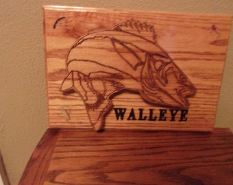 Engraved 3D Walleye