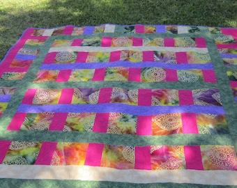 gorgeous handmade quilt batik dyed full size quilts