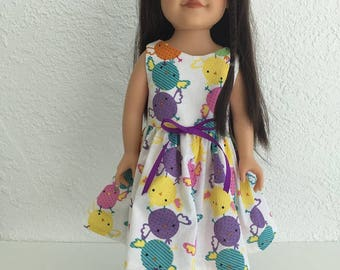 18 inch Doll Easter Chicks Dress fits American Girl Dolls