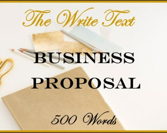 Business Proposal - 500 Words
