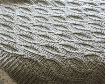 Download Now - CROCHET PATTERN Heritage Cable Blanket - Make to Any Size - Pattern PDF