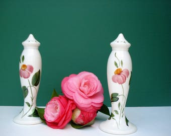 Vintage Floral Salt and Pepper Shakers by Blue Ridge Southern Pottery