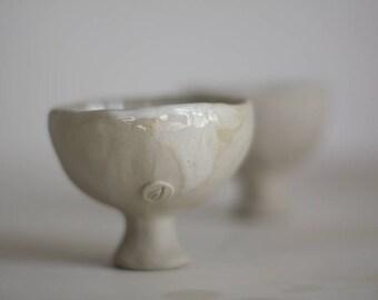 White tea bowl, wine goblet