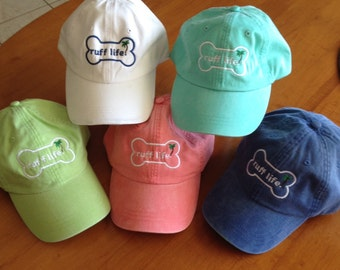 Gifts for Dog Lovers, Baseball hats, pigment dyed, adjustable, embroidered by Ruff Life! pet owners