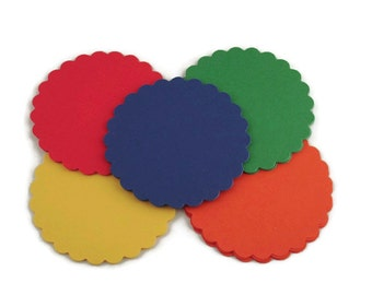 3 Inch Scalloped Paper Circles  in The Basics Set of 25