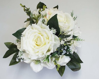 Large Floral Cake topper - White