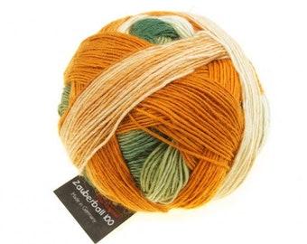 "Magic Ball 100 ""Autumn Champion"" Schoppel wool knit or crochet handmade merino wool"