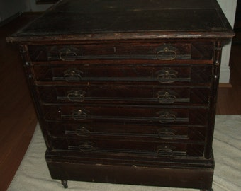 Six drawer Willimantic Spool Cotton cabinet