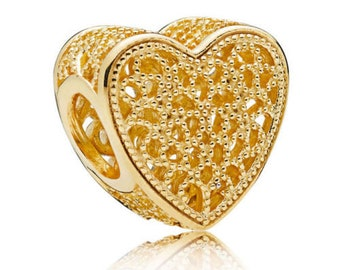 Authentic Pandora  Shine #767155 Filled With Romance Heart Shaped