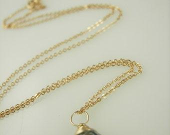 Dainty Gemstone Necklace - Wirewrapped Gemstone Necklace - Silver or Gold Birthstone Necklace