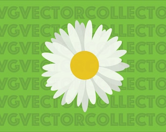 Daisy Flower, SVG DXF EPS Png, Clip Art, Instant  Digital Download