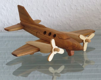 Cessna 421 airplane aviator wood handmade