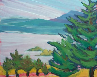 Valley Moning 21. Original abstract landscape oil painting