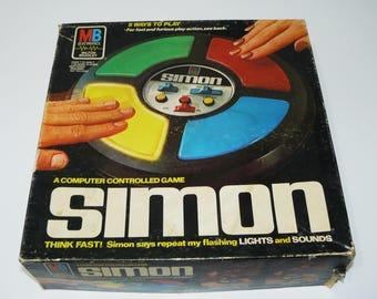 1978 Simon Game A Computer Controlled Electronic Milton Bradley Game Boxed