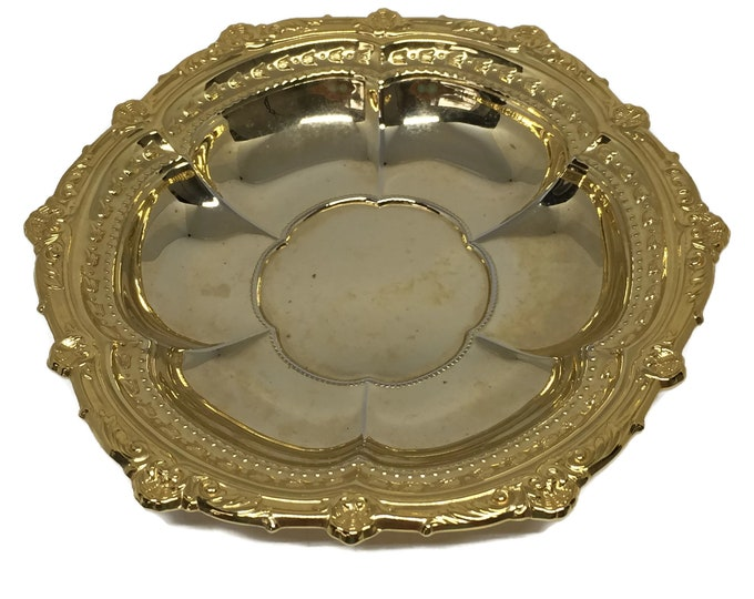 Multi-Purpose Gold Electroplate Dish